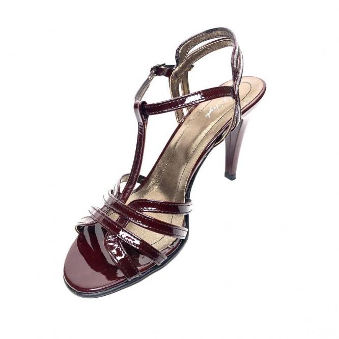 Sandale din piele naturala 395-Lac Visiniu