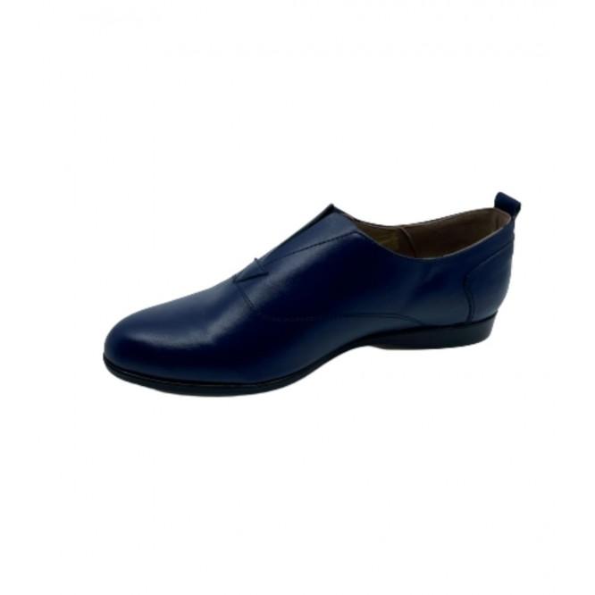 Pantofi din piele naturala 607-Albastru