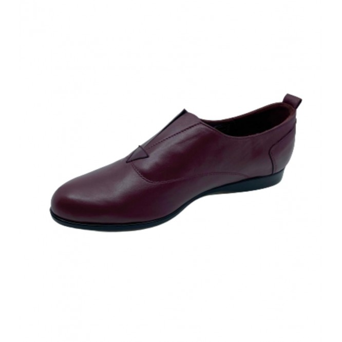 Pantofi din piele naturala 607-Bordo