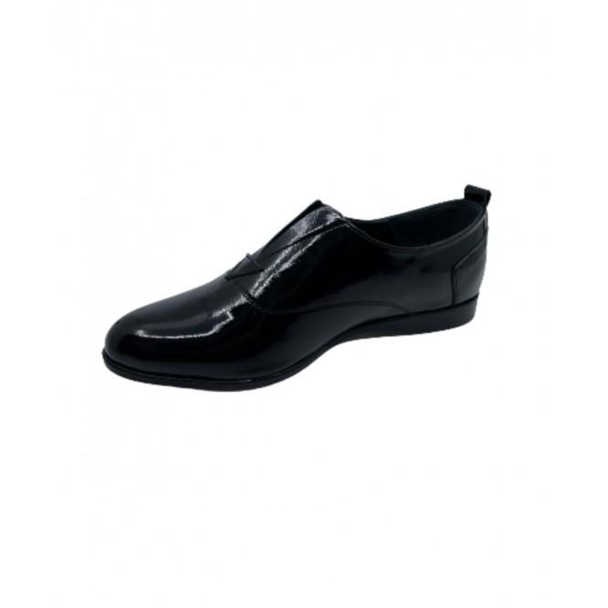 Pantofi din piele naturala 607-Lac Negru