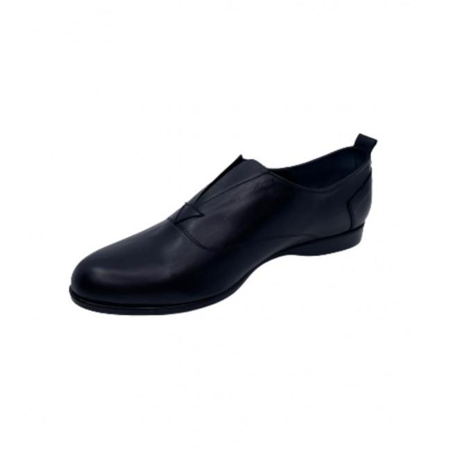 Pantofi din piele naturala 607-Negru