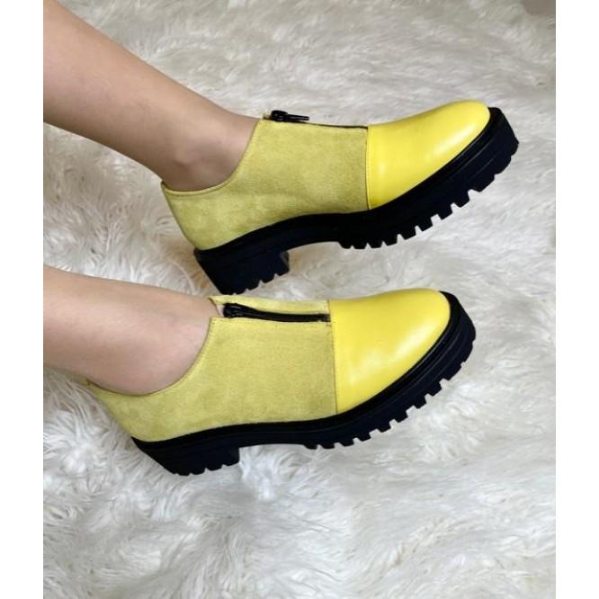Pantofi din piele naturala 619-Ant 226-225