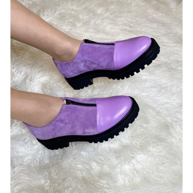 Pantofi din piele naturala 619-Ant. 233-232